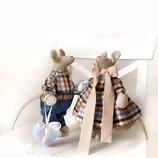 Семейная пара мышек тильда стильный оберег мягкая игрушка мышь крыса подарок на св. Валентина декор