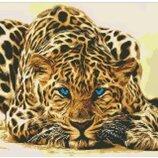 Алмазная вышивка Леопард притаился 40 50см Ам6125. Алмазне вишивання. Рукоделие. Рукоділля.