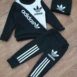 Акция Теплый костюм-тройка Adidas