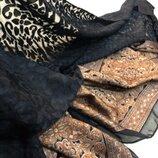 Очень красивая шаль, шарф из комбинированной ткани