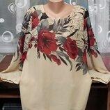 Шикарная Нарядная Брендовая Блуза Туника На Пышную Красу