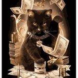 Картина по номерам Денежный кот PGX8911. Премиум. Картины по номерам.