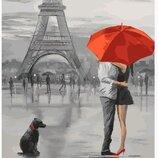 Картина по номерам Любовь в Париже PGX5661. Премиум. Картины по номерам.