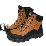 Зимние мужские ботинки рыжие 2311-9