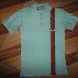 Хлопковая качественная Рубашка поло тенниска Gucci Гуччи