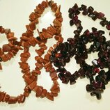 Бусы колье ожерелье натуральный камень авантюрин гранат