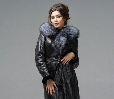 в идеале натур кожаная дубленка пальто чернобурка бесплатно белая шубка