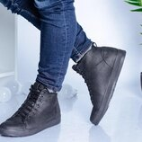 Мужские зимние кожаные ботинки 16375