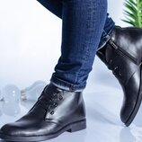 Мужские зимние кожаные ботинки 10426