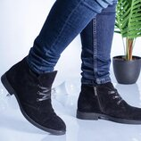 Мужские зимние кожаные ботинки 10427