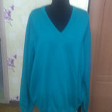 100% чистая новая шерсть Мужской фирменный зеленый свитер полувер Marz р.58 XXXXL