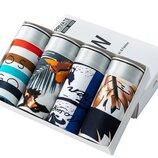 Стильный набор мужских плавок в подарочной коробке с принтами