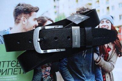 Мужской ремень для джинсов Massimo Dutti черный