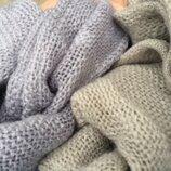 Шикарный фисташковый шарф из кашемира