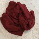Шикарный бардовый шарф из кашемира