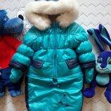 Трансформер Куртка с карманами конверт комбинезон рукавички зима