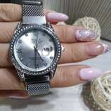 Женские наручные часы Rolex Date Just, Ролекс цвет серебро, на магните