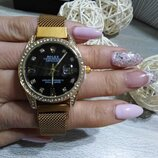 Женские наручные часы Rolex Date Just, Ролекс цвет золото, на магните