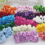 Бумажные мини розы для рукоделия