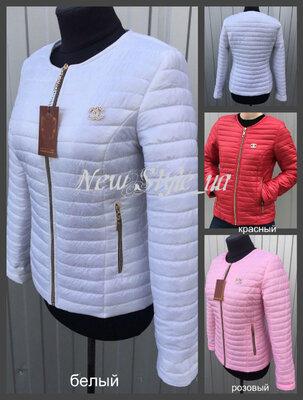 42-68, Жіноча куртка Шанель демі. Демисезонная куртка женская. короткая куртка молодежная