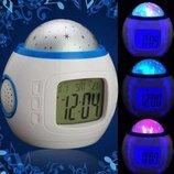 Часы - проектор звездного ночного неба светильник