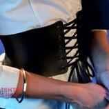 Женский пояс-корсет из эко кожи на шнуровке