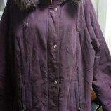 Шикарная Брендовая Куртка на пышных дам евро-зима, Пог 70-72