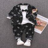 Стильный костюм тройка для маленького модника