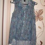 Блуза без рукавов H&M с удлиненной спинкой, р.36.