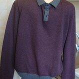 свитер серо-фиолеотовый George М/l 50%котон, 50%акрил