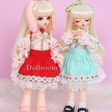 1/6 маленькие девочки. BJD кукла, милый кролик. Высота 26 см. Высокое качество. Полный комплект.