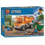Конструктор Bela 11220 Аналог Lego City 60220 Мусоровоз 102 детали