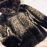 Женская шубка муфлон, норка