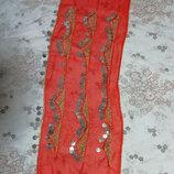 Юбка шарф с монетами для восточных танцев