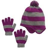 Комплекты шапочка и перчатки для девочек 4-12 лет. Сша