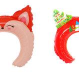 Детский ободок обруч надувной шар мыша свинка Пеппа уточка