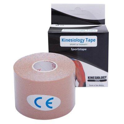 Кинезио тейп эластичный пластырь Kinesio tape 0474-5 длина 5м, ширина 5см