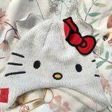 Теплая шапка hello kitti