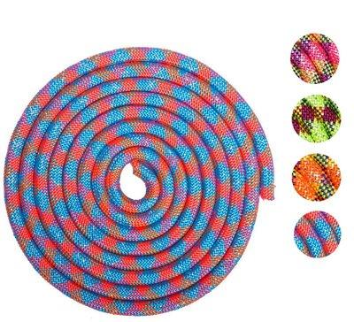 Скакалка для художественной гимнастики утяжеленная с люрексом 0372 длина 3м, диаметр 15мм 5 цветов