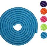 Скакалка для художественной гимнастики утяжеленная с люрексом 0371 длина 3м, диаметр 15мм 5 цветов