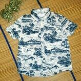 Рубашка летняя хлопковая для мальчика 3-4года
