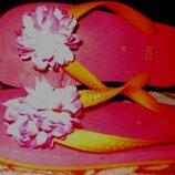 рожеві резинові вєтнамки квітка Oasis р37 нові