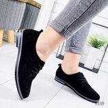 Туфли женские Classic черные замша