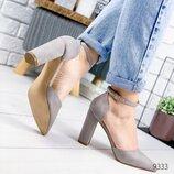Туфли женские Semmix серые