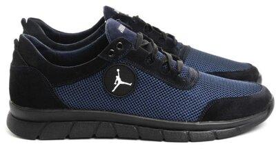 46-50 р Jordan кроссовки мужские летние с сеткой и кожей большого размера