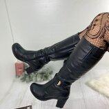 Женские зимние сапоги натуральная кожа евро-мех