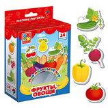 Набор мягких магнитов овощи фрукты , мягкие магниты