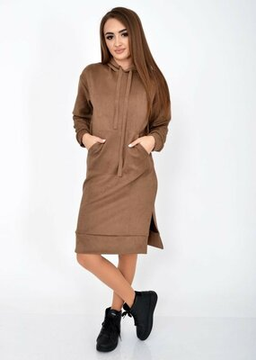 Туника стильная весенняя коричневая платье коричнева стильна весняна туніка