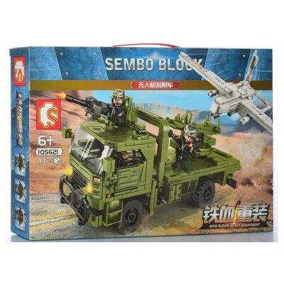 Конструктор Sembo 105621 Транспортно-пусковая установка с Бпла 442 детали