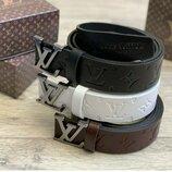 Стильный кожаный ремень бренд арт К322